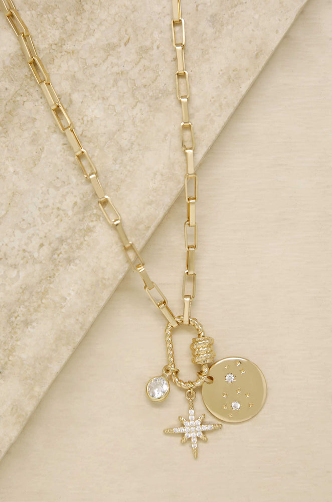 Charmed For Sure 18k Gold Plated Necklace