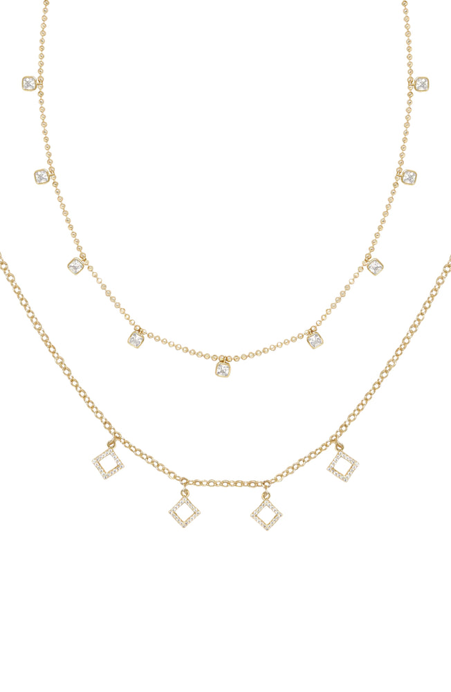 Crystaline 18k Gold Plated Necklace Set