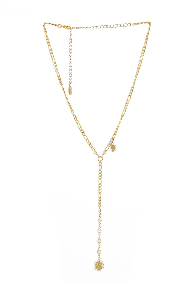 Crystal Spotted 18k Gold Plated Lariat