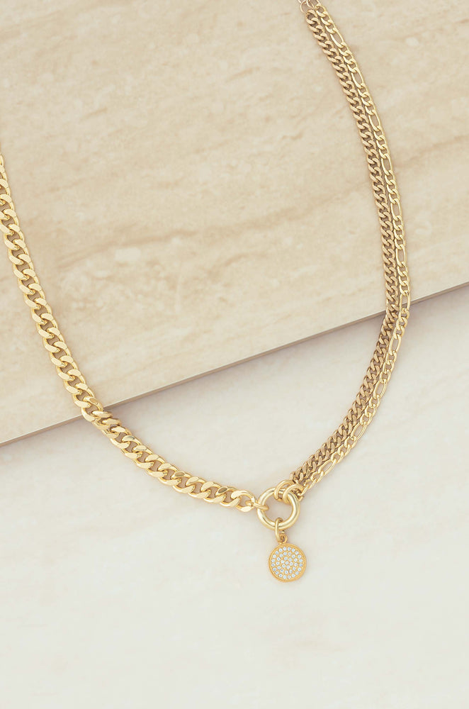 Three Chains 18k Gold Plated Necklace
