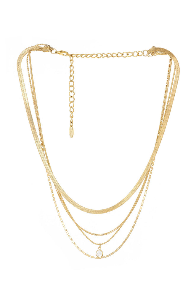 All the Chains 18k Gold Plated Layered Necklace