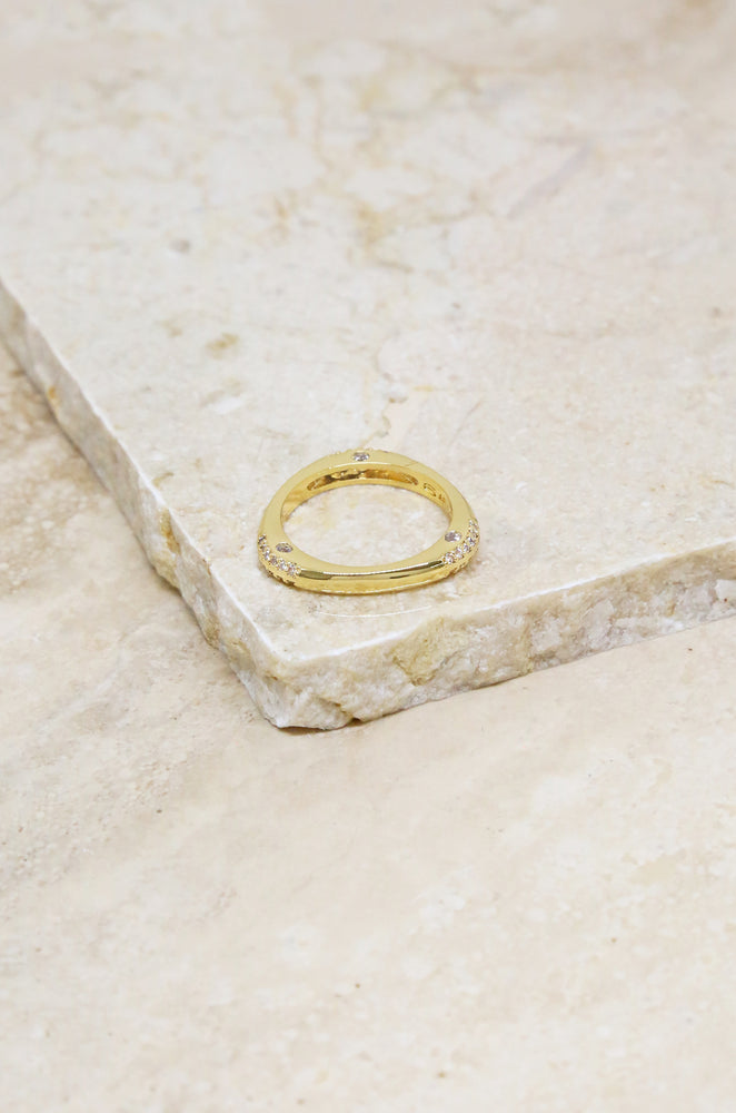 Star Dusted 18k Gold Plated Ring