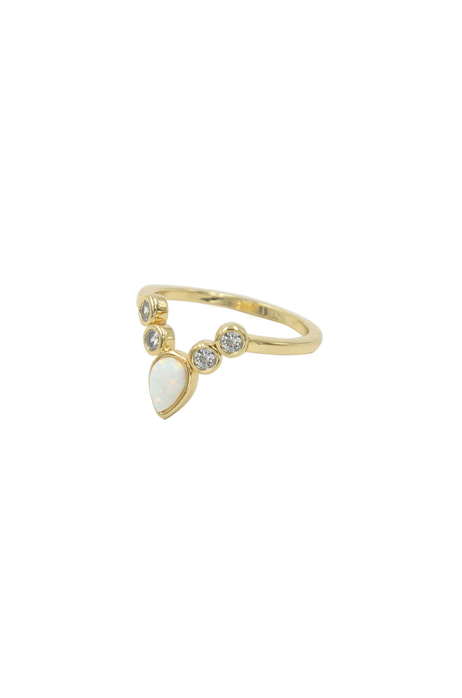 The Opal Temptress 18k Gold Plated Ring