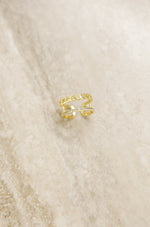 Wanderer Crystal 18k Gold Plated Ring