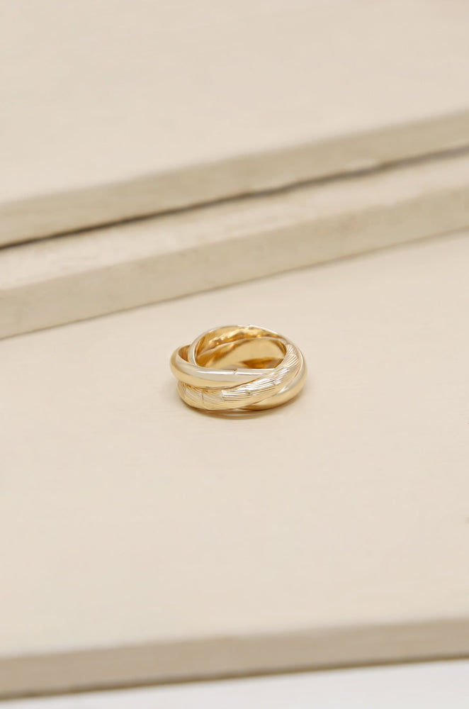 Don't Get It Twisted 18k Gold Plated Gold Ring