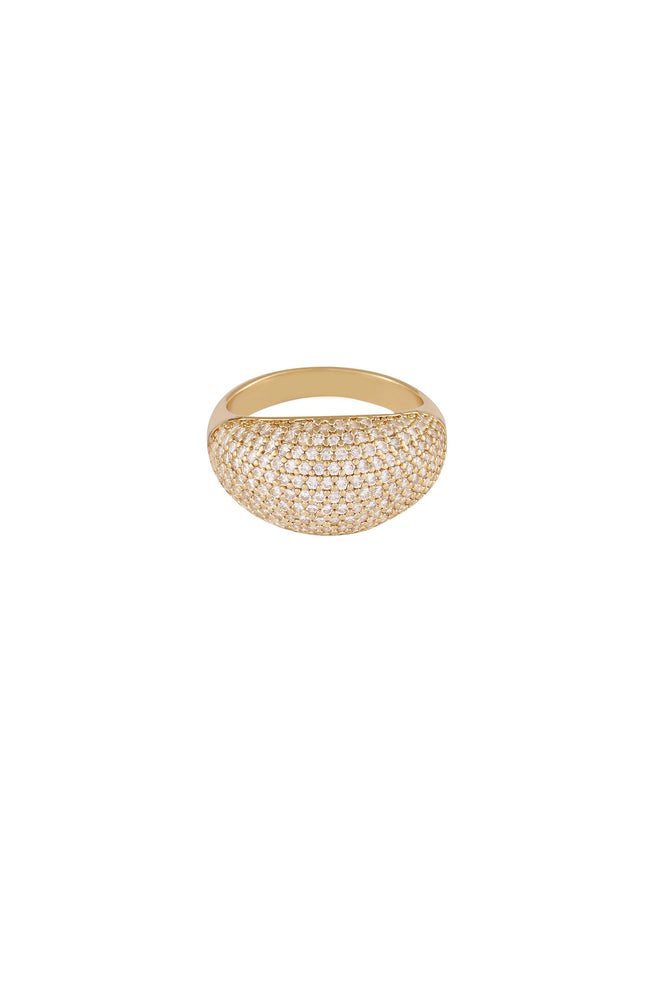 Crystal Cluster Knockout 18k Gold Plated Ring