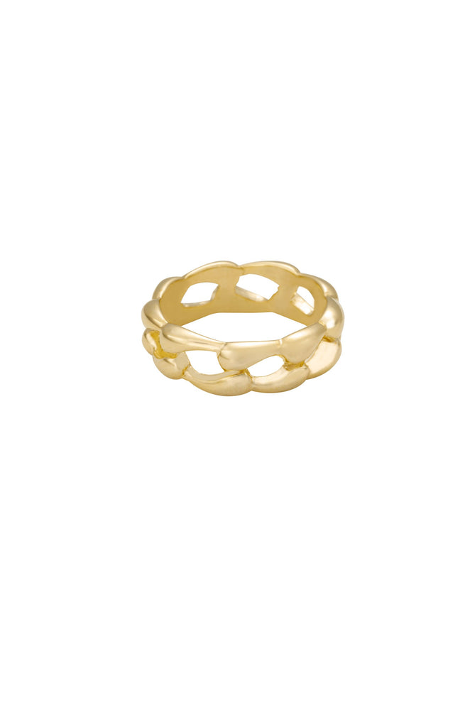 Melt Together 18k Gold Plated Ring