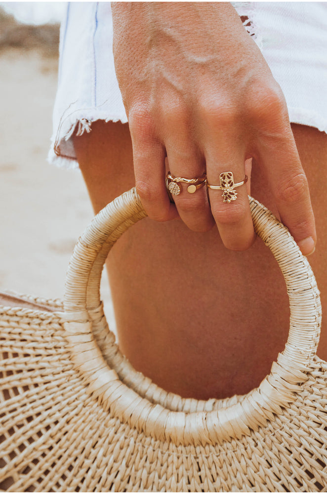 Island Vibes 18k Gold Plated Ring Set