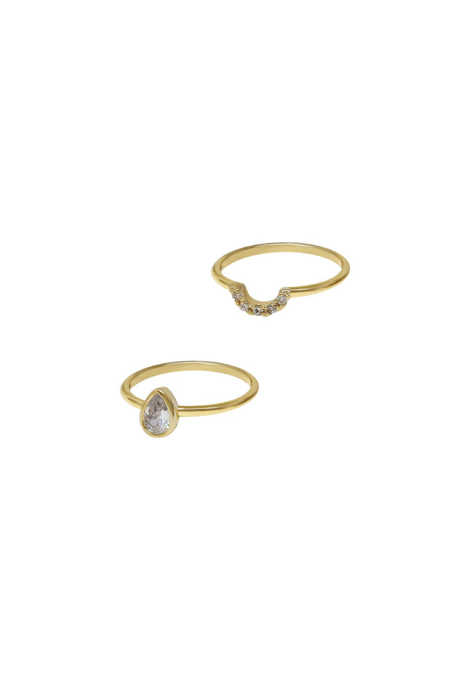 Perfect Fit Crystal Stacking Ring Set