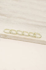 Multi-Stack Geo Crystal Ring Set of 6