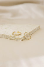 Twisted Link 18k Gold Plated Ring Set