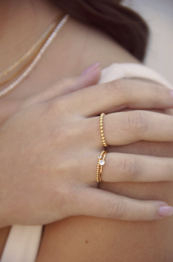 Understated 18k Gold Plated Stacking Ring Set of 3