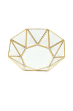 Gold Round Geometric Jewelry Tray