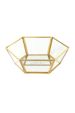 Small High Sided Mirror Bottom Jewelry and Display Tray