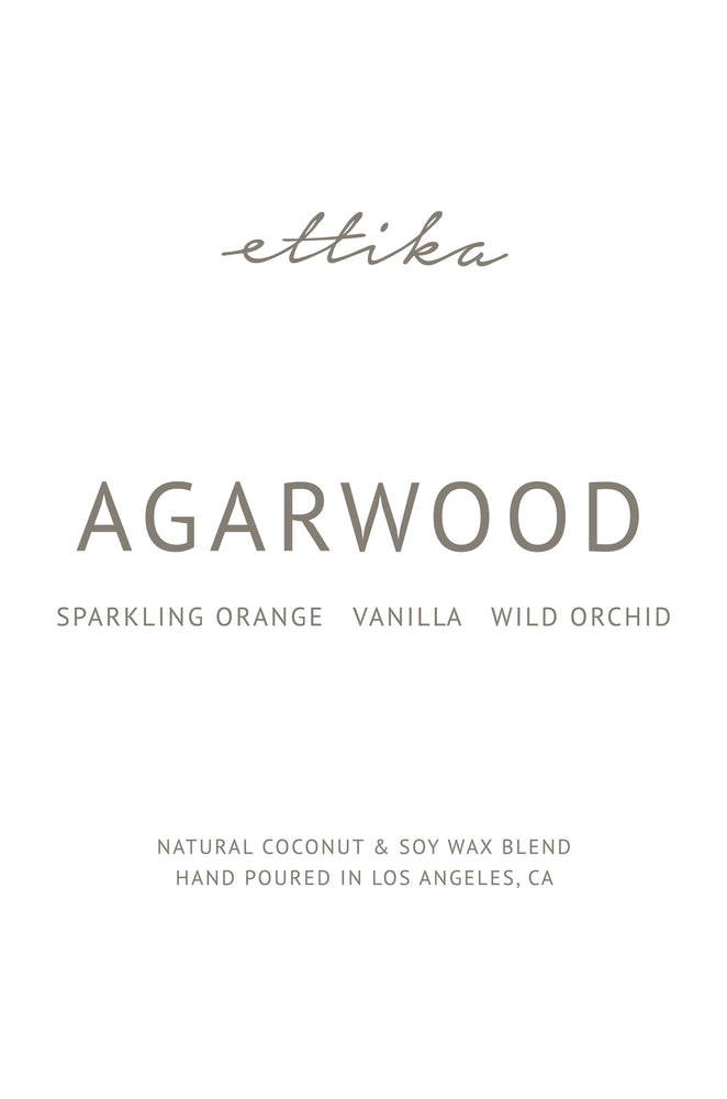 Agarwood 8oz Candle Label