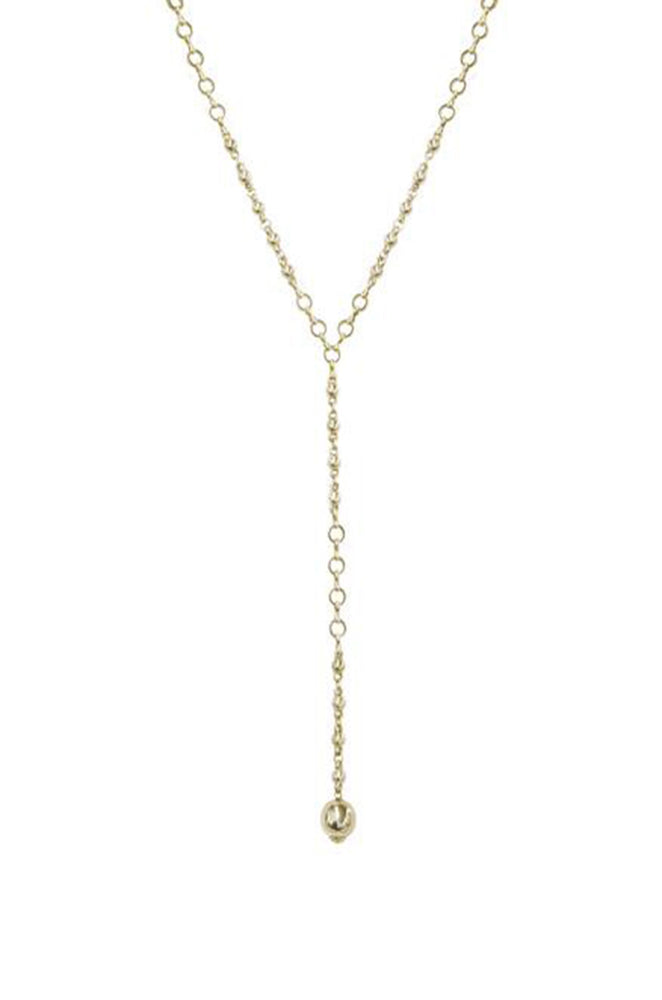 Always Guided 18k Gold Plated Chain Link Lariat Necklace