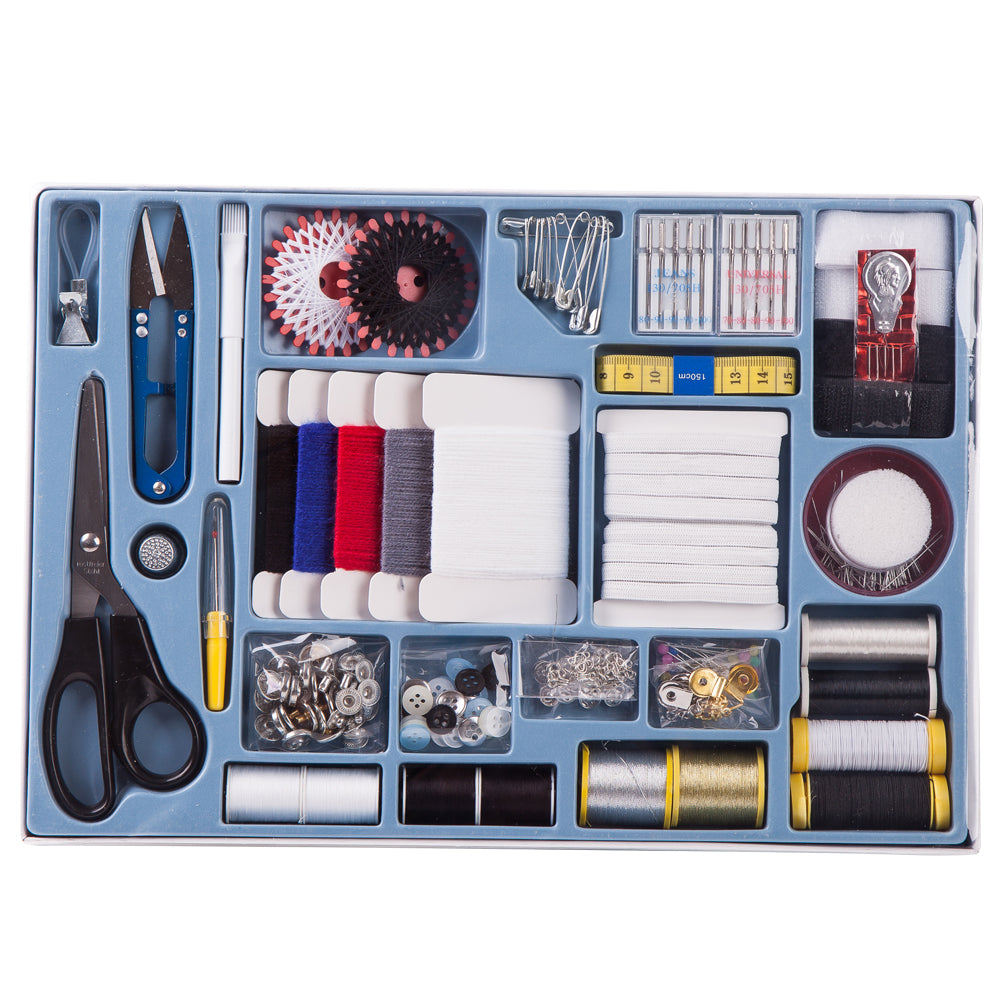 SewPro - 373 Piece Deluxe All in one Sewing Kit with variety of threads, yarns, needles, pins,
