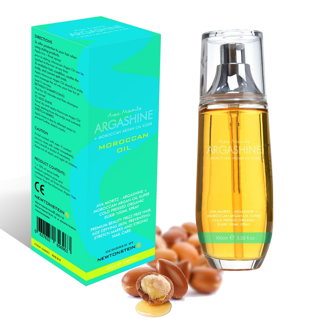 Ava Moritz - Argashine+ Moroccan Argan Oil Super Cold Pressed Organic Elixir 100ml Spray - Premium