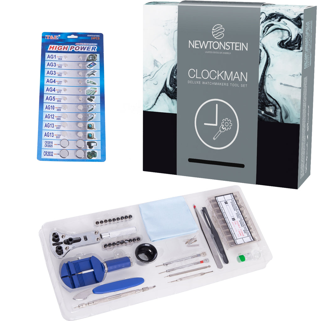 Clockman - 420pcs Deluxe Watchmakers Tool Set Housing And Case Opener/Pry Tools And Pin Punches,