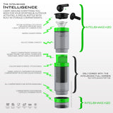 Intelishake H20 INFUSE - Black Forest - Multi-Compartment 550ml Water, Protein shaker, Fruit