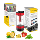 Intelishake H20 INFUSE - Fiery Red - Multi-Compartment 550ml Water, Protein shaker, Fruit Infusion