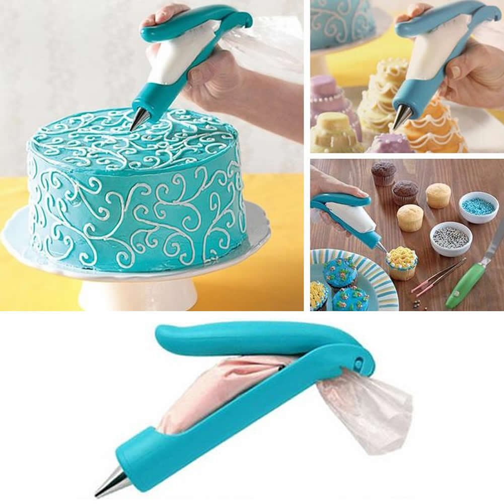 IcingCraft - 132 pcs Icing set with 110 various icing nozzle tips, hand icing pen dispenser, 20