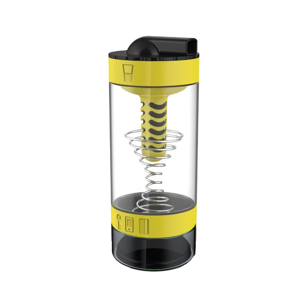 Intelishake, Bumblebee Yellow - Shaker bottle Multi-Compartment Protein/Workout/Juice with water