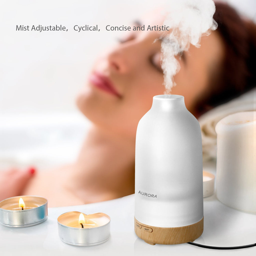 Difusian AURORA - Aroma Diffuser, Aromatherapy Essential oil Diffuser Ultrasonic Cool Mist with
