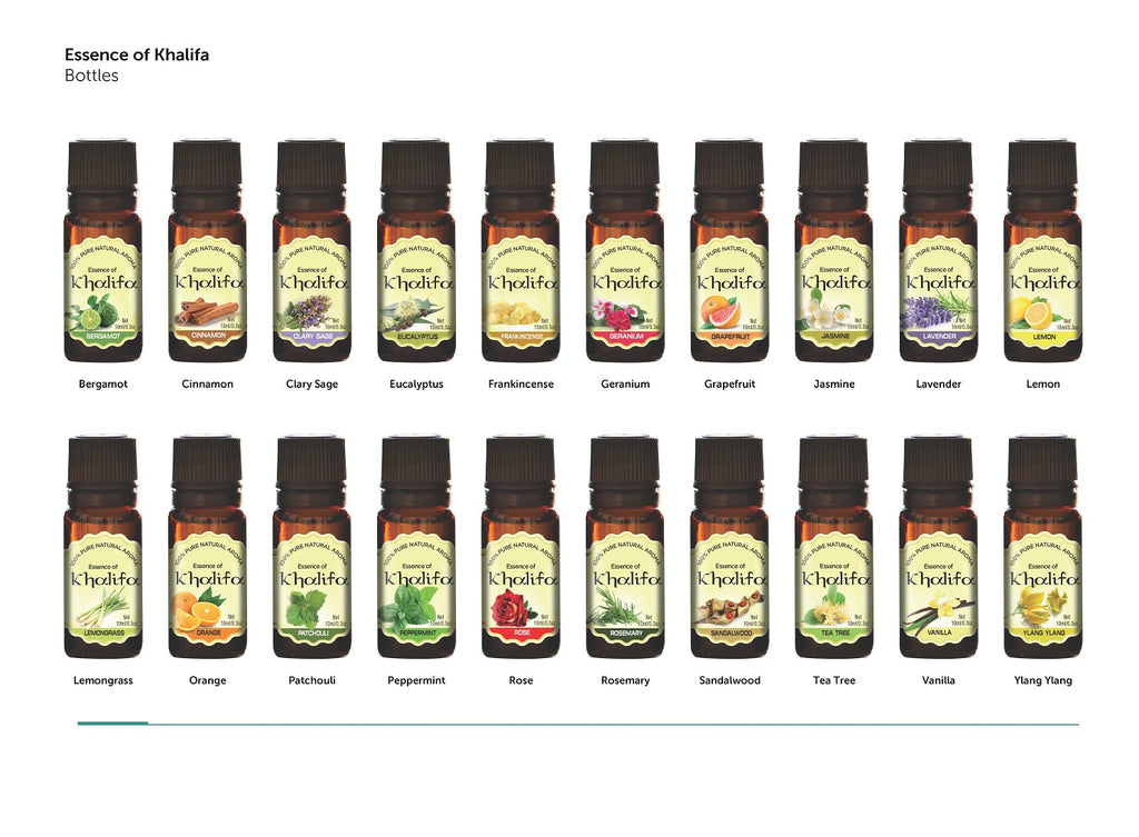 Essence Of Khalifa - 20pc set of 10ml Luxury 100% Pure Aromatherapy Essential Oils - Therapeutic