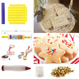 Cookiepro Festive Edition - 231pcs Cookie Biscuit Cutter And Stamp Set With 6pcs Xmas Shape Round