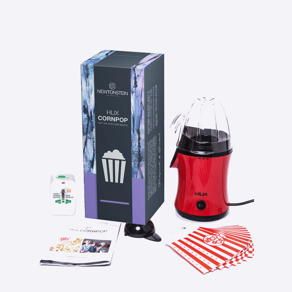 hLix CORNPOP - Hot Air Popcorn Maker in 3 minutes 1100W Grease and Oil Free, For Fresh & Fat-Free
