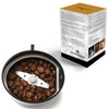 hLix BEANGRIND - White - Coffee, Nut and Spice Grinder with Twin Cutting Stainless Steel Blades, 75