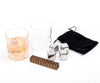 Clydescot SKYE - 9pcs Whiskey gift Set - 4 Reusable Ice Cubes Stainless Steel Cooling Stones Cool