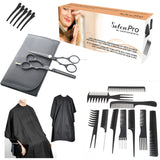 SalonPRO - 20pcs Professional Hairdressing kit with 5.5 inch precision cut and thinning scissors in