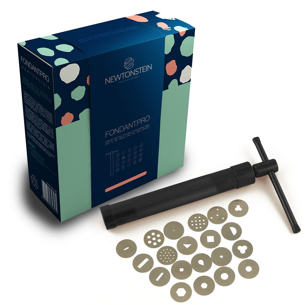 Fondant Pro  - Fondant tool featuring 20 decorative discs, easy to use handle.