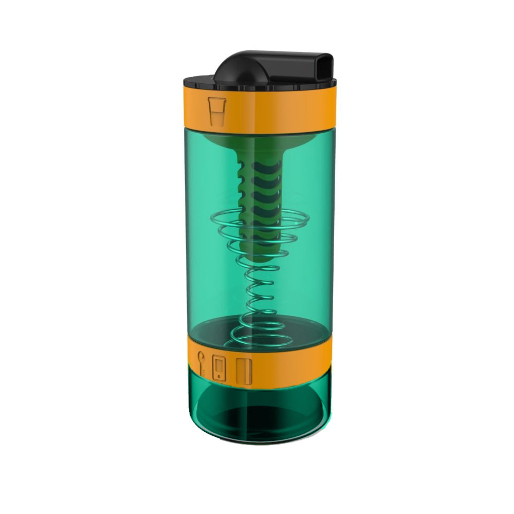 Intelishake, Techno Orange - Shaker bottle Multi-Compartment Protein/Workout/Juice with water