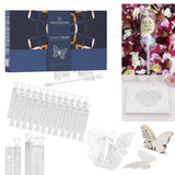 BubbleBliss MATRIMONY - 136pcs Wedding Party set - 50pcs Wand Tube Bubble maker, 25pcs Butterfly