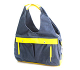 TOTO BAG - Dark Blue - Luxury baby diaper nursing bag with multi-compartments, nappy changing mat,