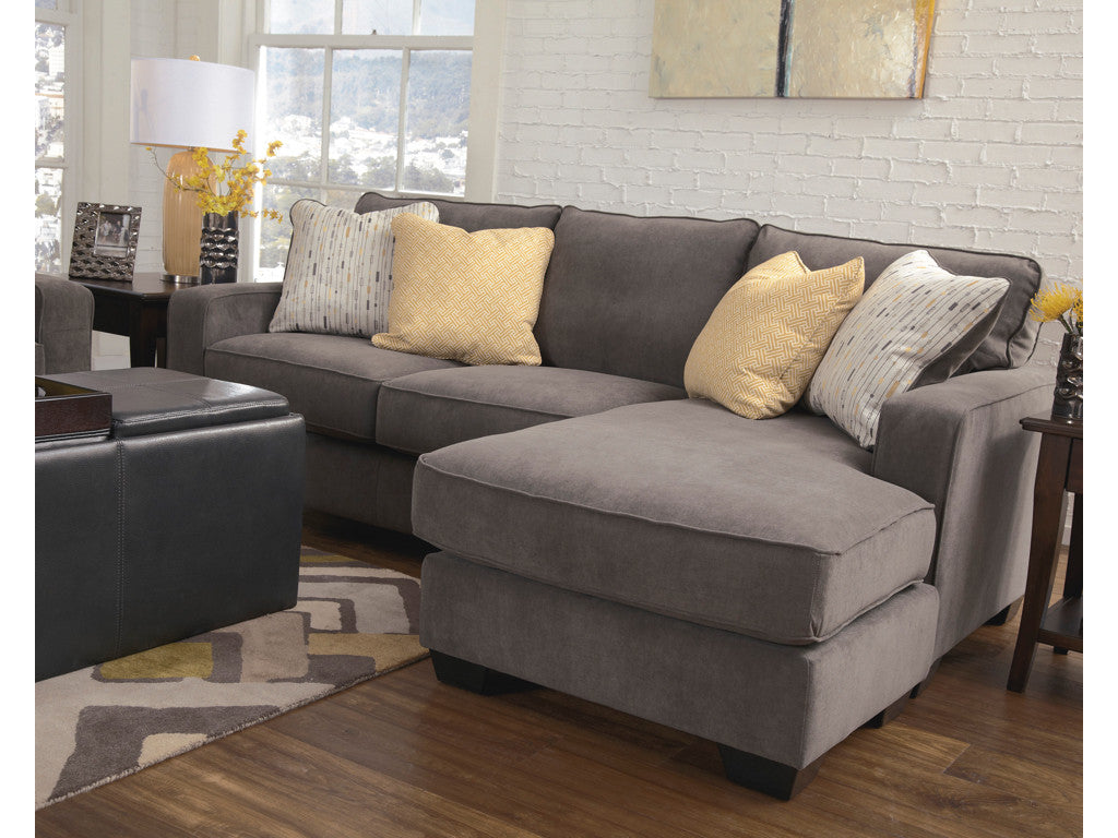 Great Grey Reversible Chaise Sectional Sofa