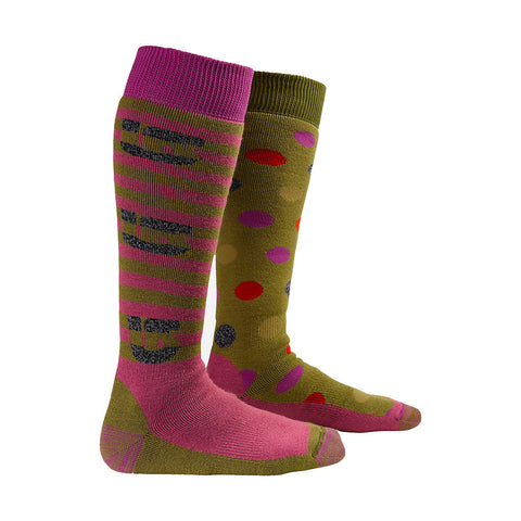 2013 Burton Women's Weekender 2-Pack Sock - Olive/Tart
