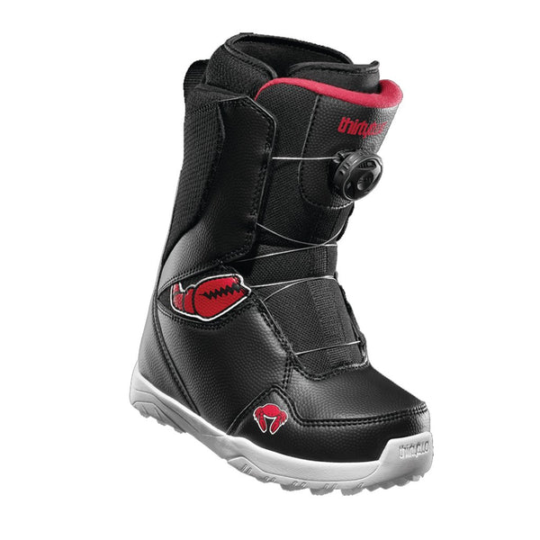 ThirtyTwo 19/20 Youth Lashed Crab Grab Boa Boot - Black/Red/White Front