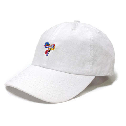 40s & Shorties Gun Pop Dad Hat - White