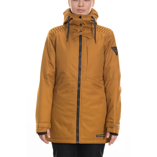 686 19/20 Women's Aeon Insulated Jacket - Golden Brown Dobby Front