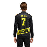Adidas Na-Kel Jersey - Black/Yellow/Bright Orange/Red Back with Model