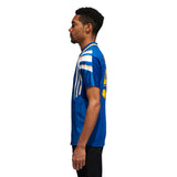 Adidas Teixeira Jersey - Collegiate Royal/Bold Gold/White Side with Model