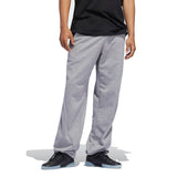 Adidas Insley Sweatpant - Medium Grey Heather/White Front with model