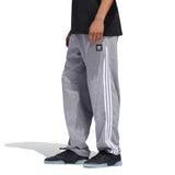 Adidas Insley Sweatpant - Medium Grey Heather/White Side with model