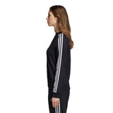 Adidas Women's Trefoil Sweatshirt - Black Side with model