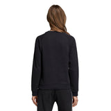 Adidas Women's Trefoil Sweatshirt - Black Back with model