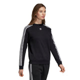 Adidas Women's Trefoil Sweatshirt - Black Quarter view